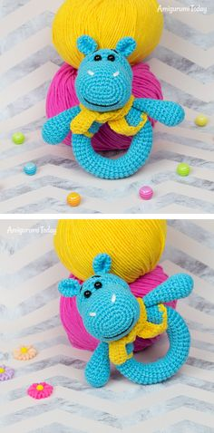 Mesmerizing Crochet an Amigurumi Rabbit Ideas. Lovely Crochet an Amigurumi Rabbit Ideas. Crochet Hippo, Cute Crochet, Crochet For Kids, Crochet Yarn, Crochet Hooks, Yarn Animals, Crochet Patterns Amigurumi, Amigurumi Tutorial, Japanese Crochet