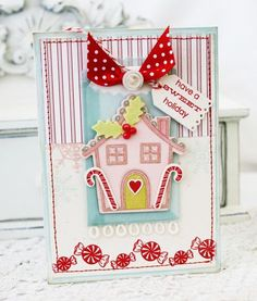 Sweet Gingerbread House Card by Melissa Phillips for Papertrey Ink (September 2012)
