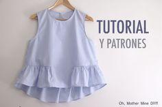 Aprender a coser: Blusa para mujer (patrones gratis)