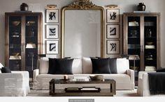 Art surrounding large mirror