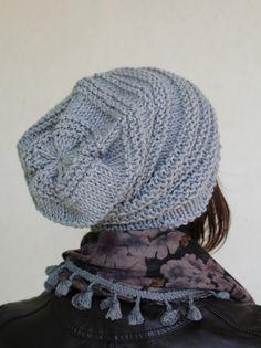 Berretto in lana realizzato con i ferri circolari : Cappelli, berretti di la-pizia