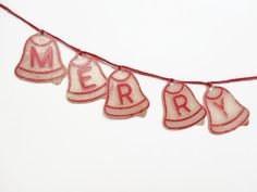 Rare Celluloid Plastic Merry Christmas Banner by melmacparadise