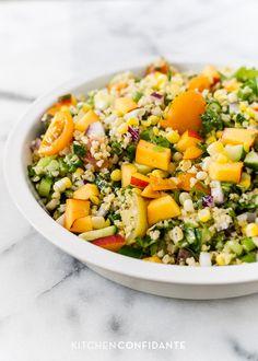 Summer Corn and Nectarine Tabbouleh   Kitchen Confidante