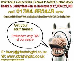 Dont horse around with forklift training visit http://ift.tt/1HvuLik #forklift #training #jobsearch #offers