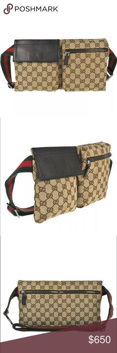 d9605798e3b6 Authentic GUCCI waist bag/bum bag brown canvas Authentic GUCCI waist bag/bum  bag