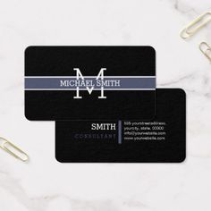 Monogram Professional Independence Horizontal Line Business Card - artists unique special customize presents