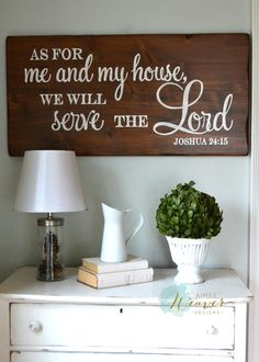 "site for customized wood signs ""As for me and my house""  - Aimee Weaver Designs"