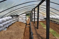 Underground Earth Bag Greenhouse.  Affordable, functional, Do-able!