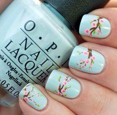 Nail art. Floral pattern