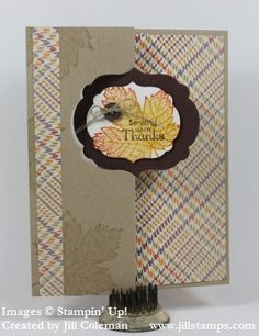 Magnificent Maple Label Thinlit Card by jillastamps - Cards and Paper Crafts at Splitcoaststampers