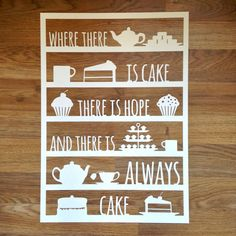 Where There Is Cake There Is Hope Papercut by ThePaperarty on Etsy Diy Projects To Try, Welding Projects, Craft Projects, Quilled Roses, Paper Cutting Templates, Paper Pot, Paper Cut Design, Fine Paper, Quilling Patterns