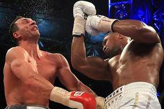 Duel s Anthonym Joshuom bol dlho vyrovnaný, raz bol na tom lepšie Kličko, raz jeho nástupca. O všetkom však rozhodol tento nekompromisný direkt od britského boxera, ktorým takpovediac skoro odtrhol Kličkovi hlavu. Tento záber obletel celý svet a práve tento úder rozhodol o Kličkovej prehre a následne aj o tom, že ukončí svoju bohatú a mimoriadne úspešnú kariéru.