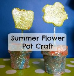Summer Flower Pot Craft