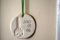 1st house key ornament!
