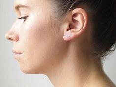 Bar Earrings Gold Bar Earring Silver Bar door DavieAndChiyo607