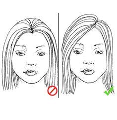 4. Peinate al costado.- Otra de las opciones inmediatas es elegir los peinados a un lado, el lado depende del crecimiento de tu cabello donde se te acomodo más rápido e inmediatamente notarás el efecto, u opta por peinados de este tipo de preferencia recogidos, no solo te verás más delgada sino también más alta.