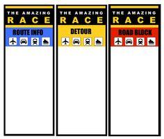 amazing race clue template