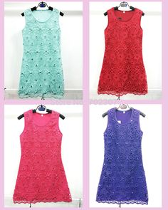 2015 New Arrived Girls lace flower Dresses with Beaded 4 color children girl dress free DHL L-123