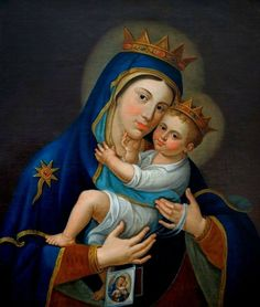 perfectthewayyouarerightnow:  Icon of our lady of Mt. Carmel, Manfredonia, Italy