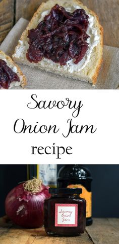 A recipe for savory onion jam with thyme. This delicious jam is perfect on sandwiches, pizzas and as a condiment for a meat and cheese tray.  via @nourishnestle