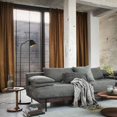 Home Living Room, Living Area, Black Interior Doors, Beautiful Curtains, Curtain Designs, Room Set, Stores, New Homes, Interior Design