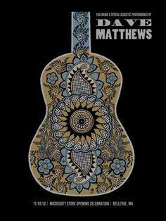 DAVE MATTHEWS BAND -MICROSOFT GUITAR « Gig Poster Archive « Methane Studios
