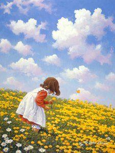 Painting by John Sloane. Paintings I Love, Watercolor Paintings, Oil Paintings, Illustration Photo, Country Art, Naive Art, Cute Art, Painting Inspiration, Beautiful Artwork