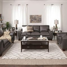 Sloane Sofa & Loveseat in Charcoal | Jerome's Furniture