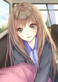 Image de anime, anime girl, and kawaii Manga Kawaii, Chibi Anime, Chica Anime Manga, Kawaii Anime Girl, Manga Girl, Anime Art Girl, Anime Girls, Anime Love, Pretty Anime Girl