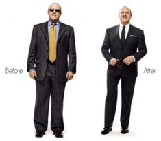 No one likes to look fat when they dress up. So here we have for you 5 cool tricks from my bag of illusions to help you look thinner! Big Man Suits, Cool Suits, Large Mens Suits, Big And Tall Mens Suits, Plus Size Men, Moda Plus Size, Mens Fashion Suits, Men's Fashion, Fashion Tips