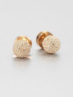Michael Kors - Pavé Ball Stud Earrings/Rose Goldtone. OMG DEAD