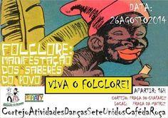 Dia do Folclore será comemorado com cortejo e ciranda Programação é nesta 3ª feira (26). #DiaDoFolclore #dança #folclore #cultura #turismo #música #arte #Paraty #PousadaDoCareca