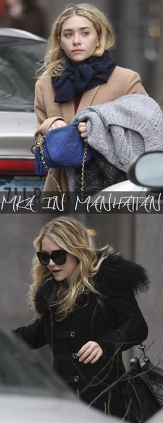Mary-Kate and Ashley Olsen bundle up in New York City. #style #fashion #olsentwins