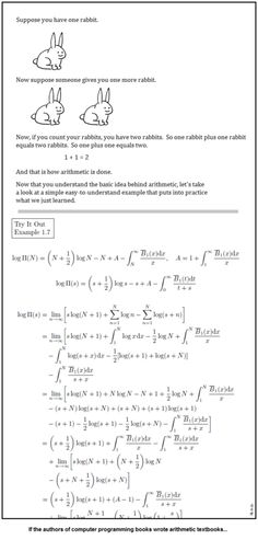 If the authors of computer programming books wrote arithmetic textbooks...