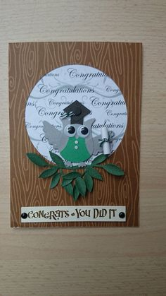 Congrats You Did It  Lovely Stampin' UP Owl Punch by SarahLouCards, £1.69