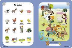 Grand imagier de Foxy en portugais : Livre imagier en portugais pour les enfants