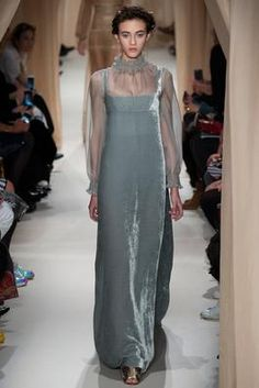 Gorgeous greys....  Understated elegance Valentino Spring 2015 Couture Fashion Show: Complete Collection - Style.com