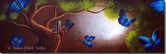 BUTTERFLY FAIRY PAINTING original erback art by shawnaerback, $1375.00