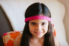 Pink braided headband by Sara Rae
