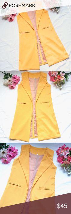 Long sleeveless vest #PoshLove New without tag long vest. Jackets & Coats Vests