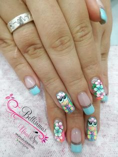 Love Nails, Pretty Nails, Cute Nail Art, Cute Nail Designs, Beauty Nails, Hair And Nails, Finger, Manicure, Lily