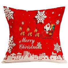 Pillow CaseVovotrade Christmas Sofa Bed Home Decor Pillow Case Cushion Cover 45cmx45cm177x177 I >>> See this great product. Note: It's an affiliate link to Amazon