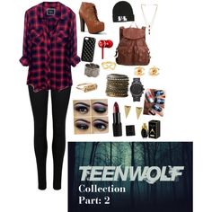"""""""Teen Wolf Collection Part: 2 Character: Sarah the Angel Liam Dunbar's love interest. Character created by me"""" by gatimuashley on Polyvore"""