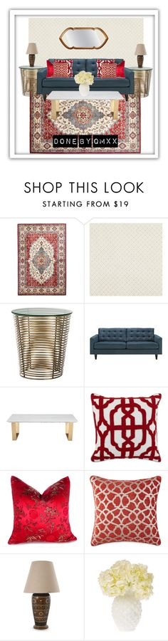 """""""Classic rug with modern touch"""" by qqamrah on Polyvore featuring interior, interiors, interior design, home, home decor, interior decorating, Laura Ashley, Arteriors, La Barge and Modena"""