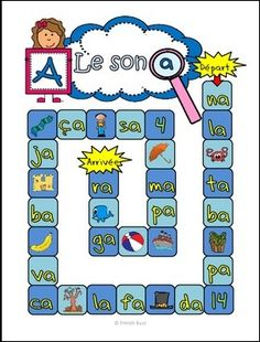 "Jeu intéractif et gratuit sur le son ""a"". Très amusant pour les élèves! French Teaching Resources, Teaching French, Teaching Tools, Read In French, Learn French, Kindergarten Language Arts, Kindergarten Activities, French Alphabet, Alphabet Sounds"