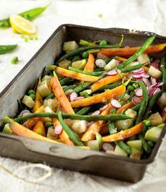 Jarní zelenina s medovou zálivkou Green Beans, Carrots, Vegetables, Cooking, Fit, Yummy Yummy, Cuisine, Carrot, Kitchen
