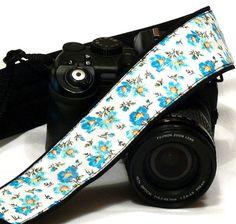 Flowers Camera Strap. DSLR Camera Strap. Canon by LiVeCameraStraps