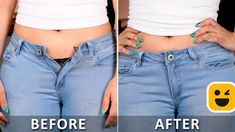 It's time to upgrade your looks with these awesome clothing hacks! We presents super cool diy videos which you can create at home. Simple, quick and fun DIY ar Diy Clothes Life Hacks, Clothing Hacks, Diy Jeans, Jeans Pants, Altering Jeans, Diy Fashion, Fashion Tips, Fashion Videos, Sewing Projects For Beginners