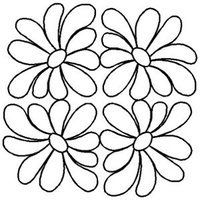 Quilting Stencils > Floral & Leaf Block - Item: on… Quilting Stitch Patterns, Machine Quilting Patterns, Quilt Stitching, Applique Quilts, Embroidery Patterns, Quilt Patterns, Quilting Stencils, Quilting Templates, Applique Templates