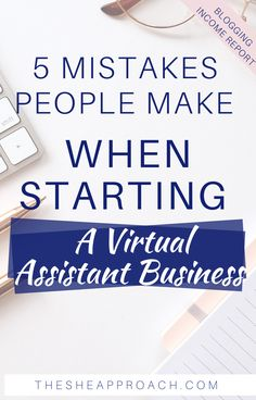 Starting A Virtual Assistant Business is not as hard as you think - but if you want to make it happen you need to avoid some mistakes! In this post I will share with you 5 Mistakes That People Makes When They Starting A Virtual Assistant Business & why is important to avoid these 5 mistakes! #freelancing&vas #virtualassistanttips #freelancertips #makemoneyonline #onlinebusinesstips Starting Your Own Business, Start Up Business, Business Tips, Earn Money Fast, Bullet Journal Writing, Work From Home Tips, Virtual Assistant, Finance Tips, Make Money Blogging
